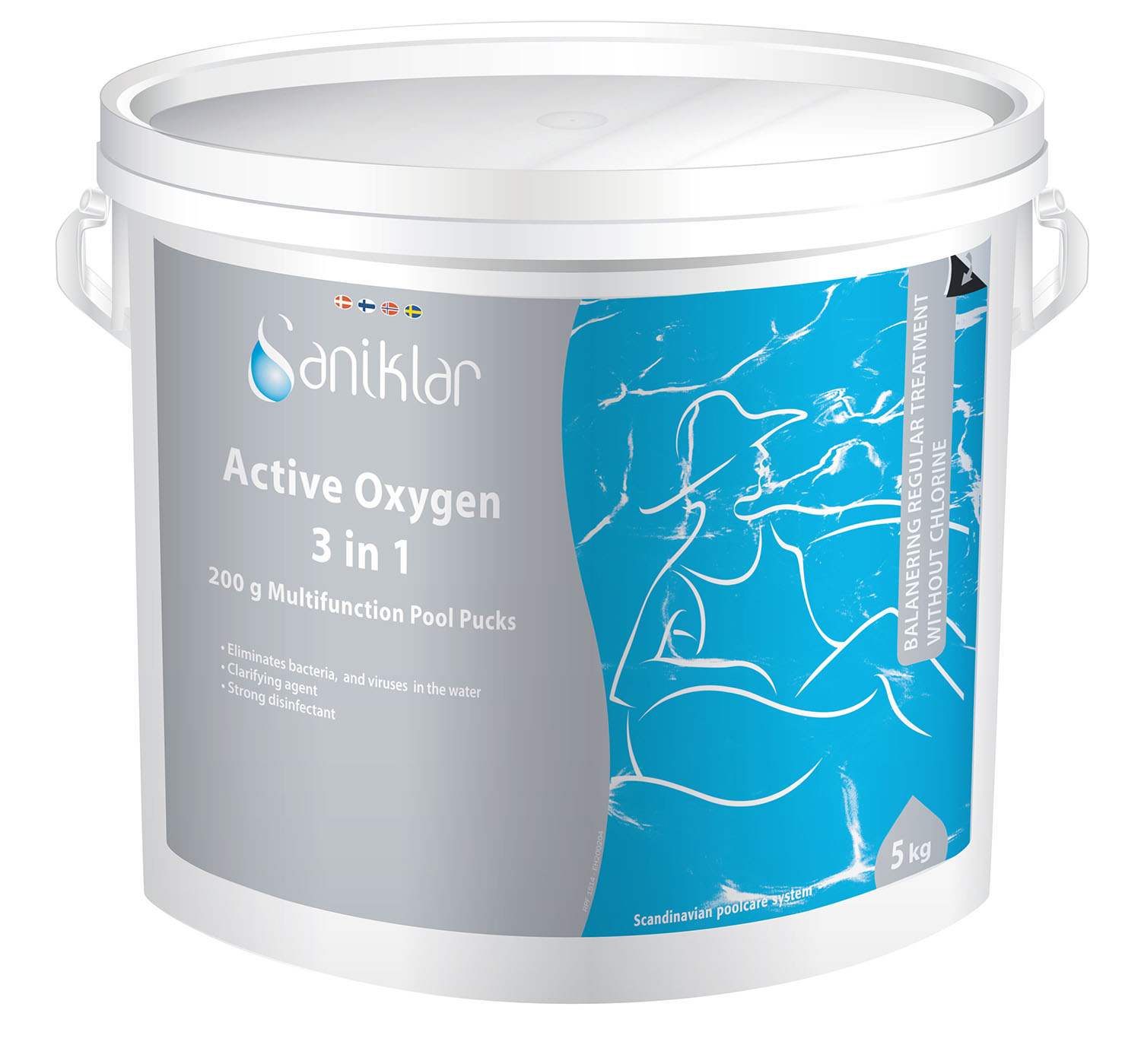Saniklar Active Oxygen 3 in 1 – 200 gr tabs