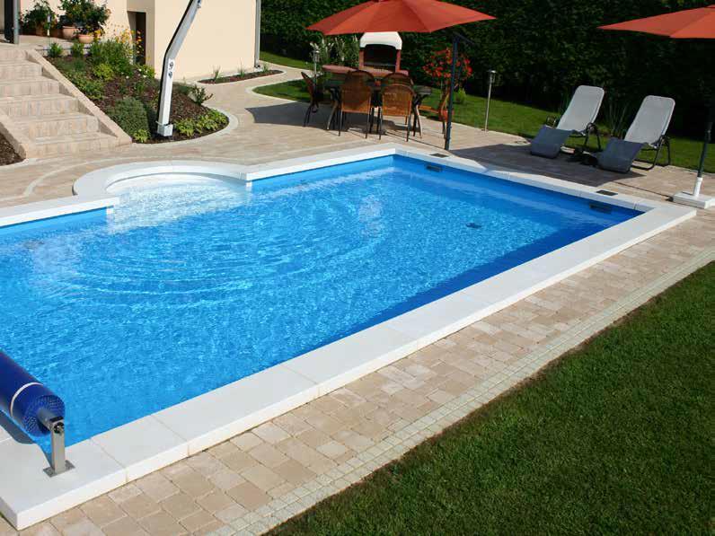 Luksus Styropor Pool m/trappe