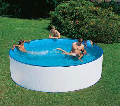 Standard Rund Pool Hvidfarvet
