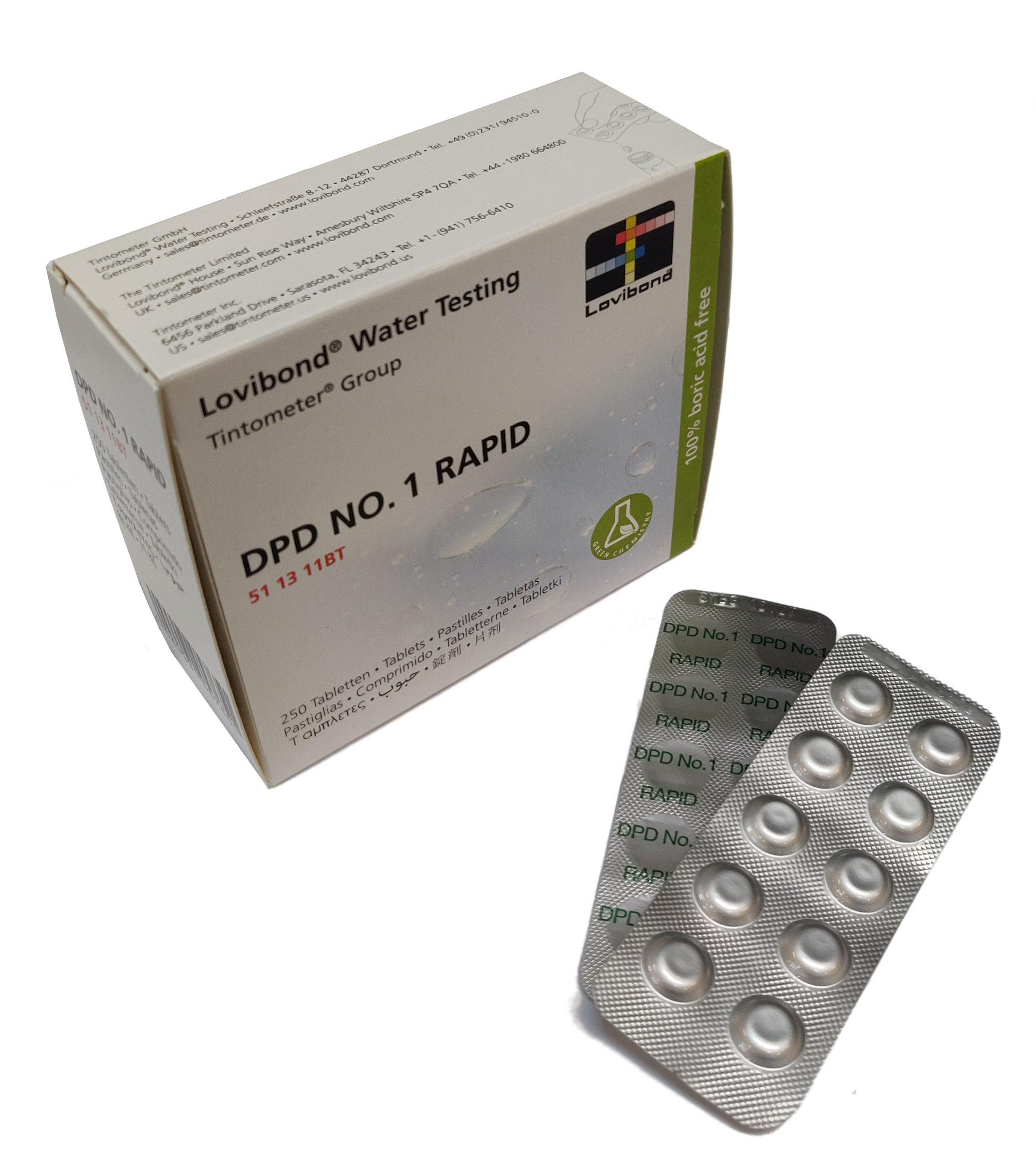 DPD nr. 1 Rapid, Frit klor (håndryster)